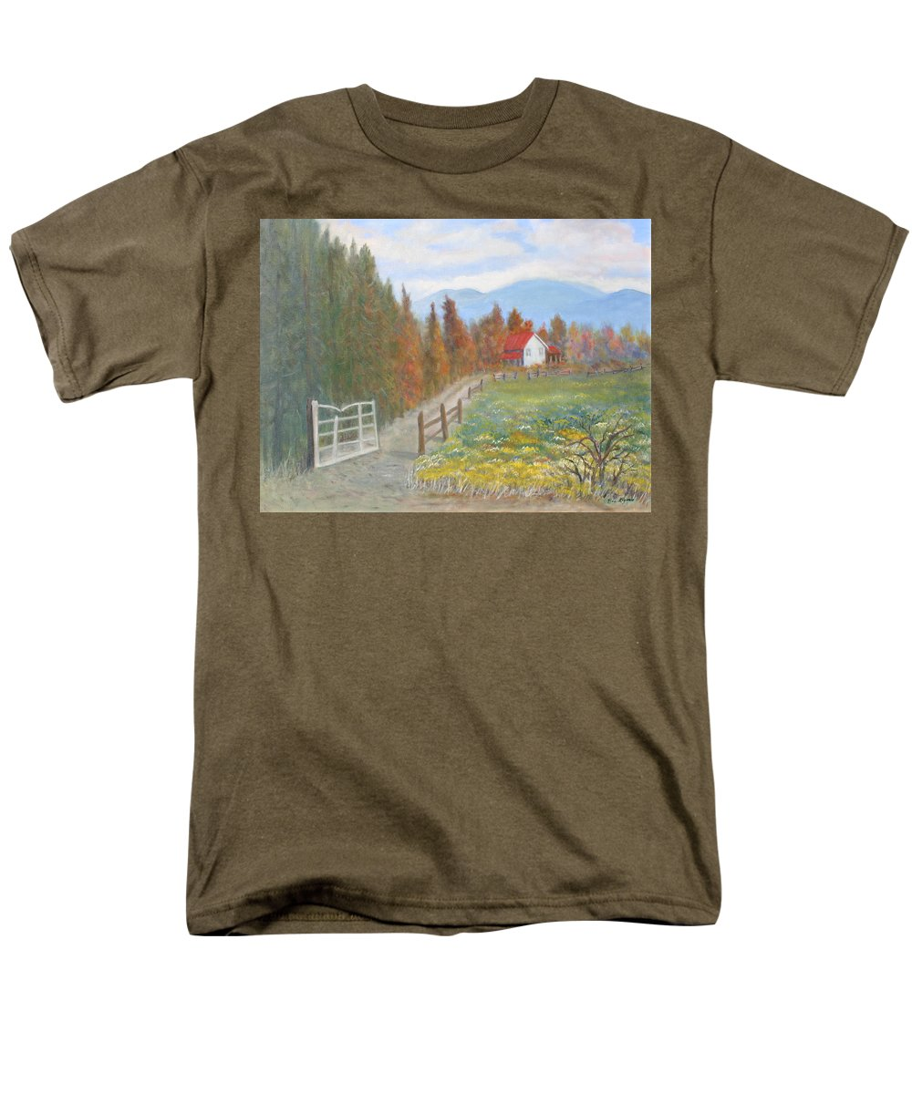 Men's T-Shirt (Regular Fit) featuring the painting Country Road by Ben Kiger