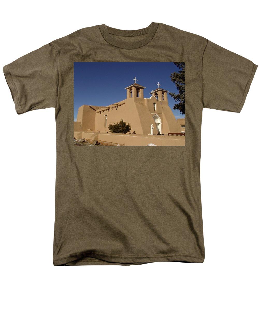 Church Men's T-Shirt (Regular Fit) featuring the photograph San Francisco de Asis Mission Church by Carol Milisen