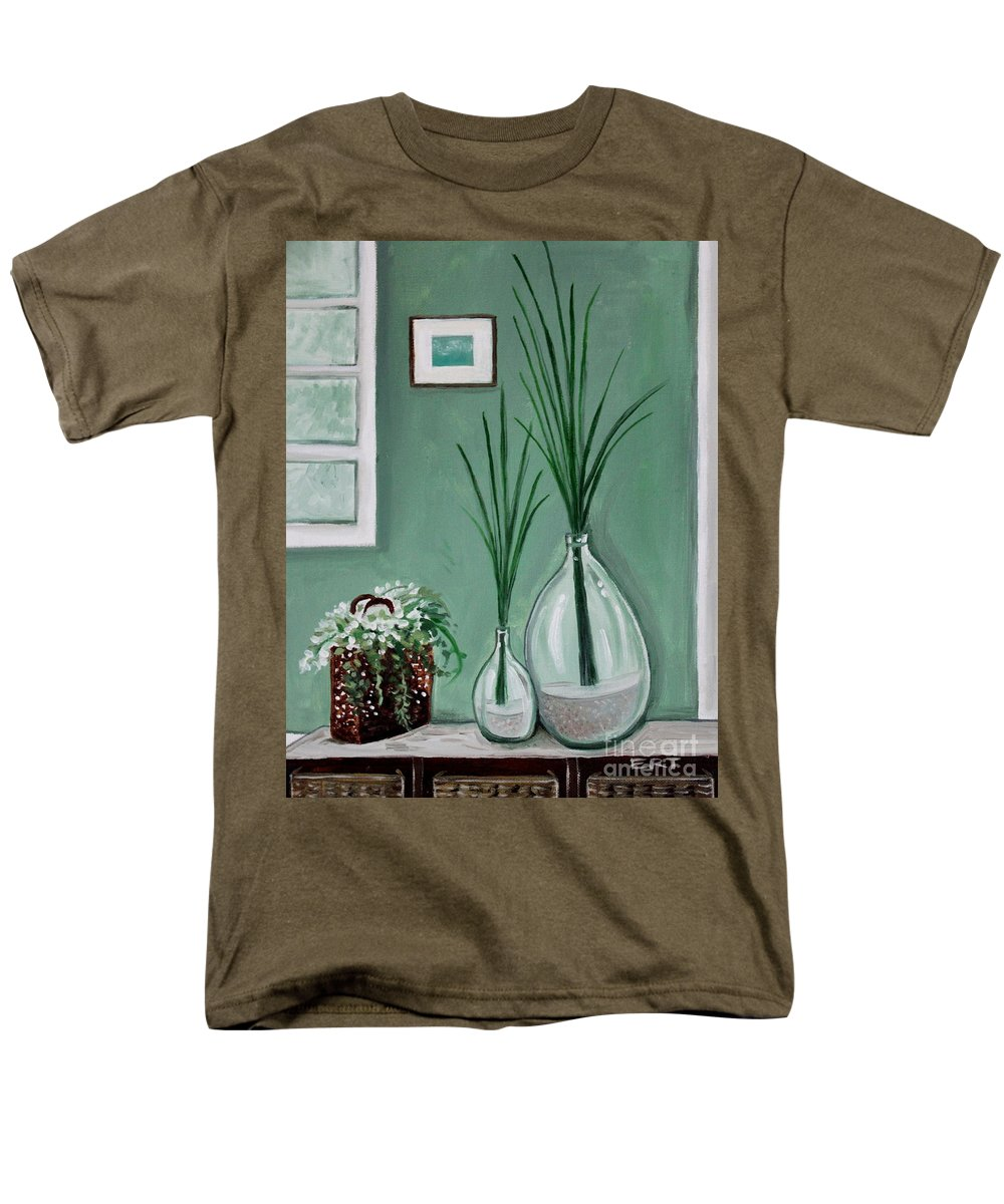 Home Decor Art Men's T-Shirt (Regular Fit) featuring the painting Sea Grass by Elizabeth Robinette Tyndall