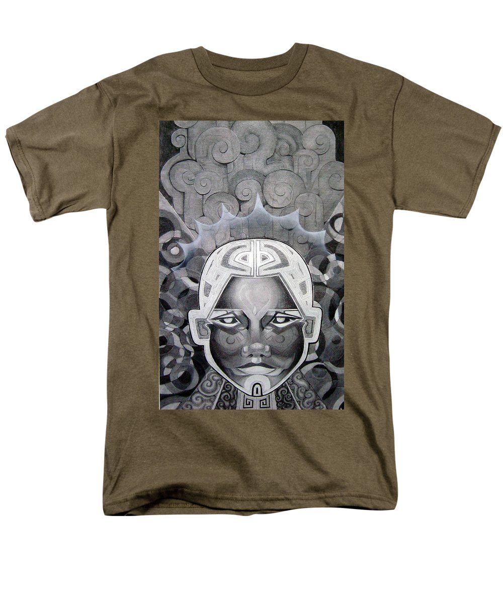 Art Men's T-Shirt (Regular Fit) featuring the drawing Abcd by Myron Belfast