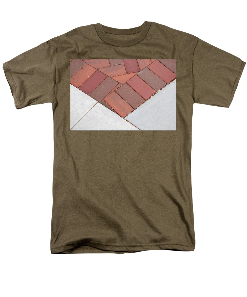 Bricks Men's T-Shirt (Regular Fit) featuring the photograph Angles by Rob Hans