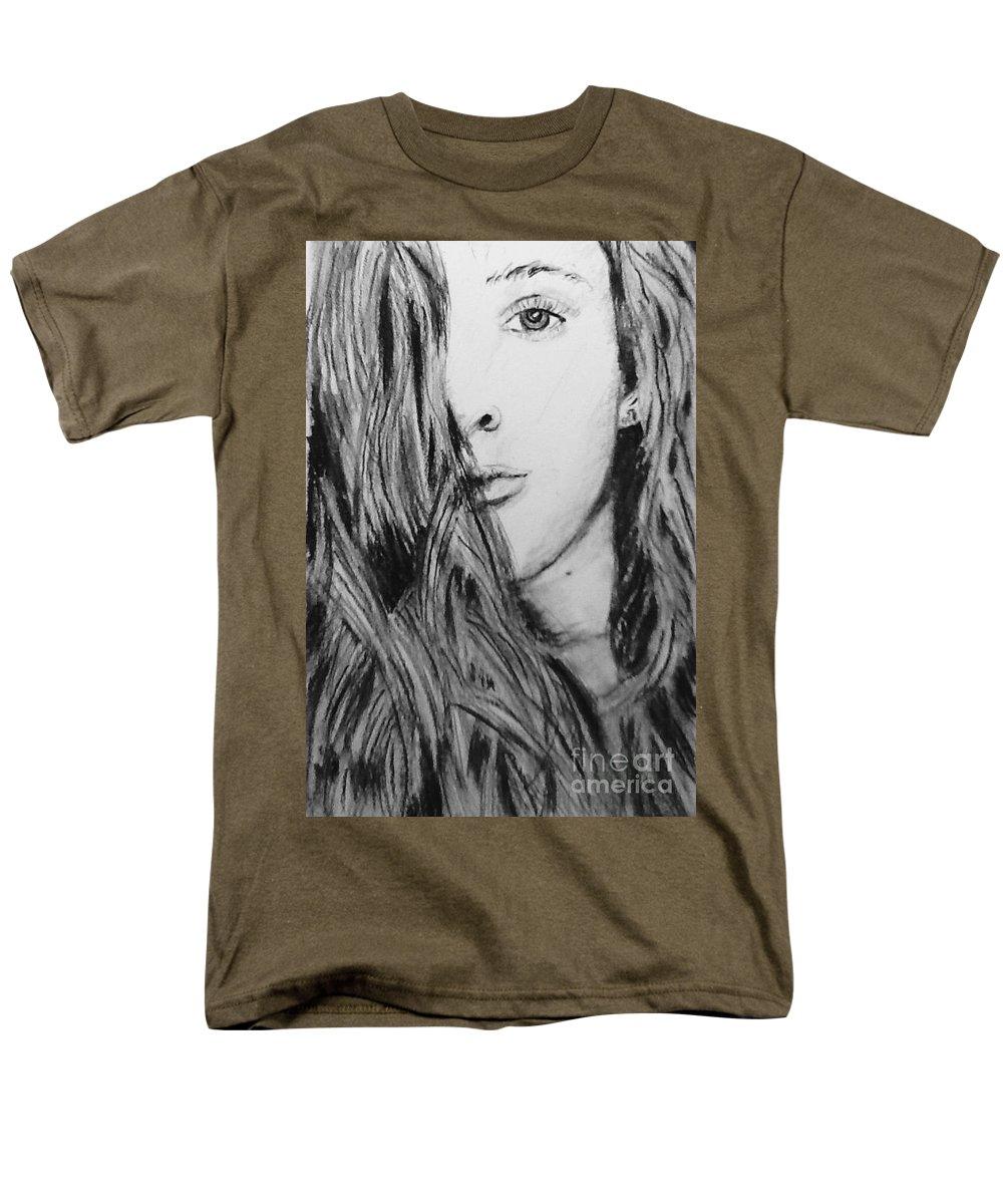 Portrait Men's T-Shirt (Regular Fit) featuring the drawing Aspen by Regan J Smith