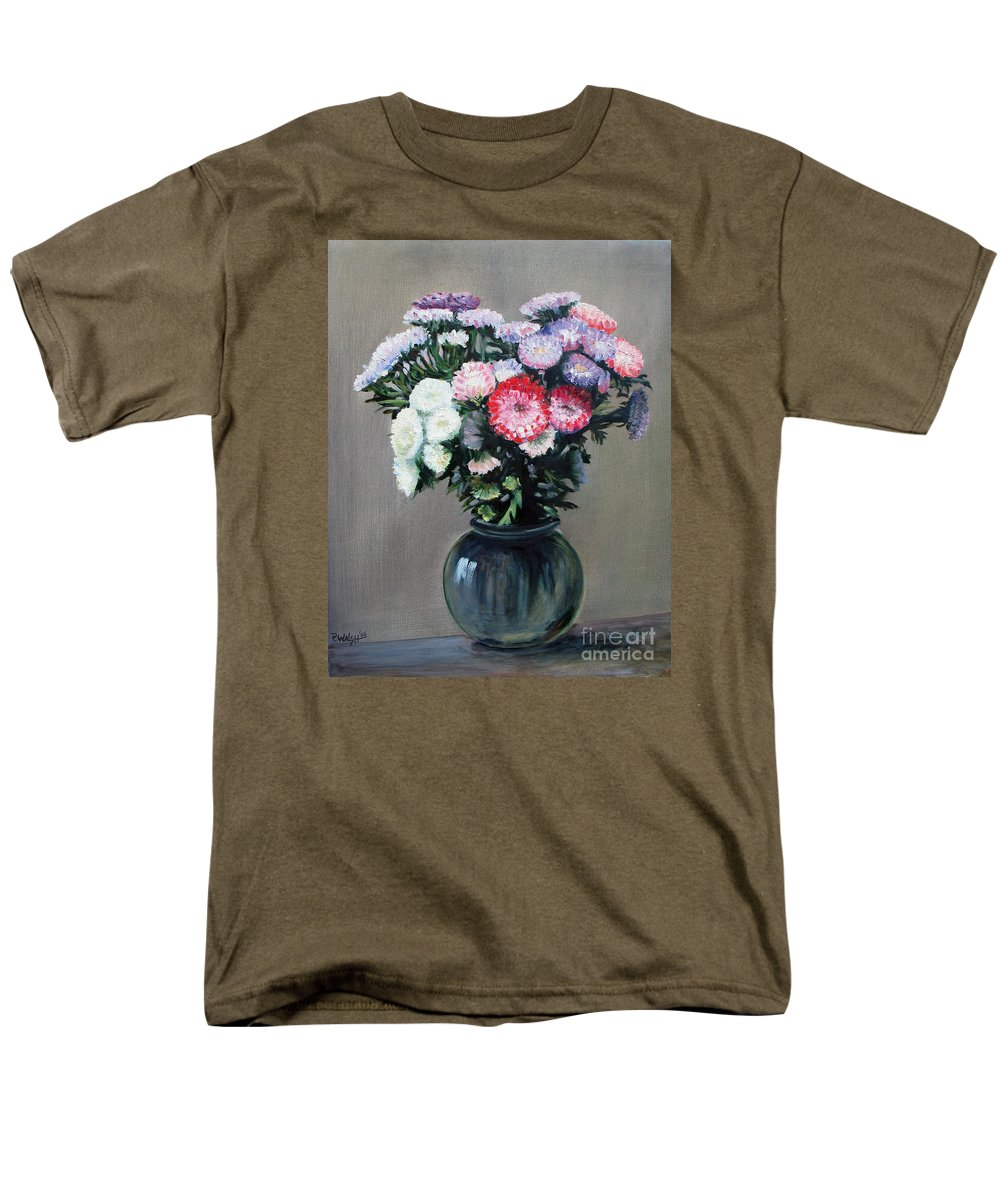 Flowers Men's T-Shirt (Regular Fit) featuring the painting Asters by Paul Walsh