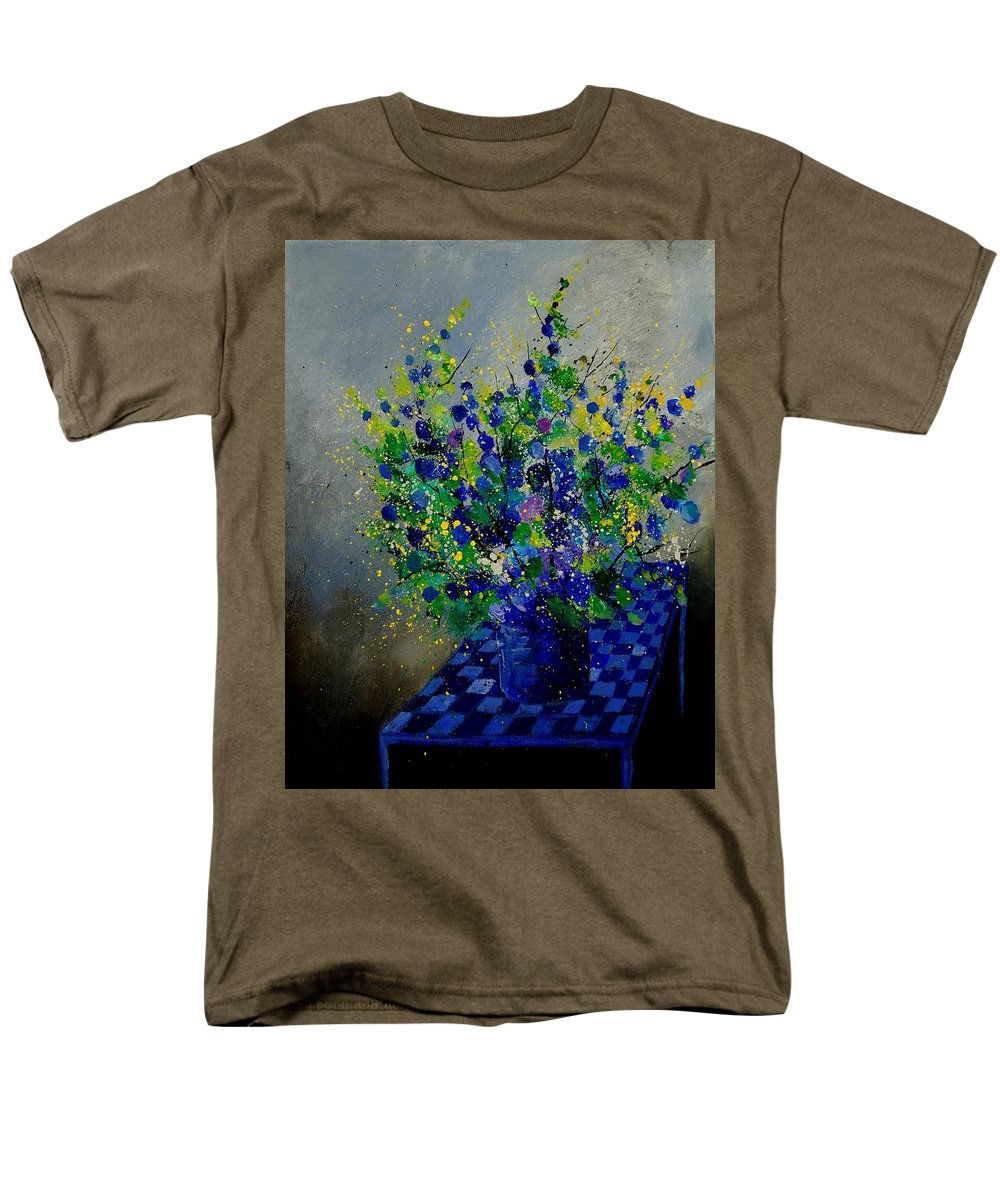 Flowers Men's T-Shirt (Regular Fit) featuring the painting Bunch 9020 by Pol Ledent