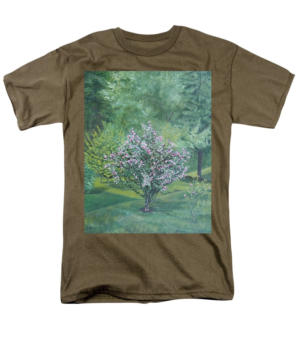 Blooming Men's T-Shirt (Regular Fit) featuring the painting Charles Street by Leah Tomaino