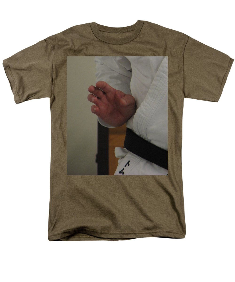 Karate Men's T-Shirt (Regular Fit) featuring the photograph Coiled by Kelly Mezzapelle
