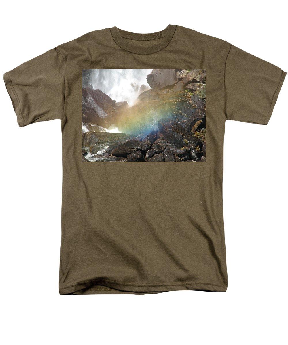 Devil's Fork Men's T-Shirt (Regular Fit) featuring the photograph Devil's Rainbow by Kelly Mezzapelle