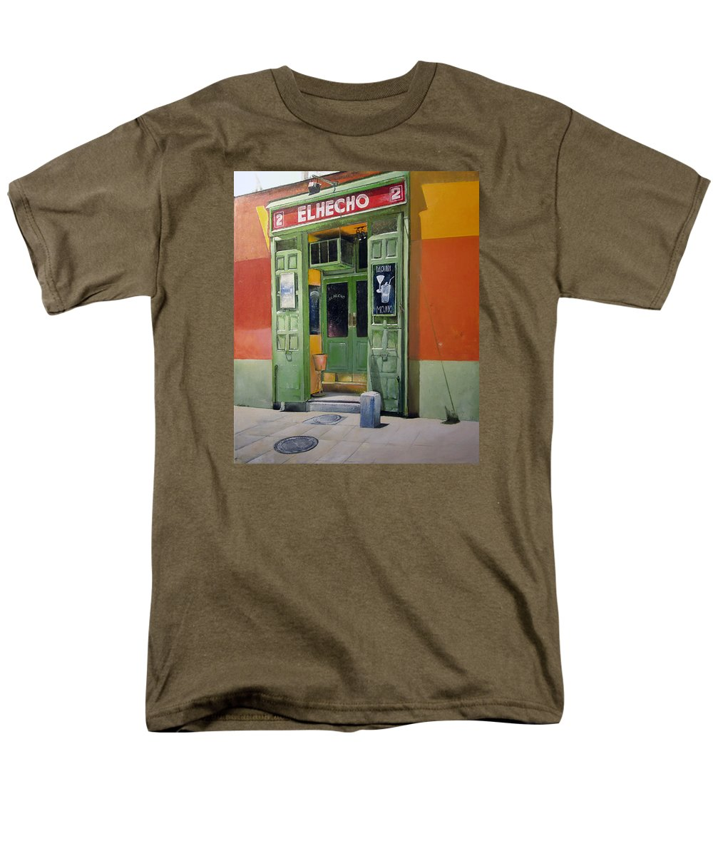 Hecho Men's T-Shirt (Regular Fit) featuring the painting El Hecho Pub by Tomas Castano