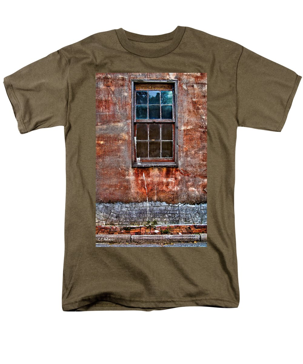 Window Men's T-Shirt (Regular Fit) featuring the photograph Faded Over Time by Christopher Holmes