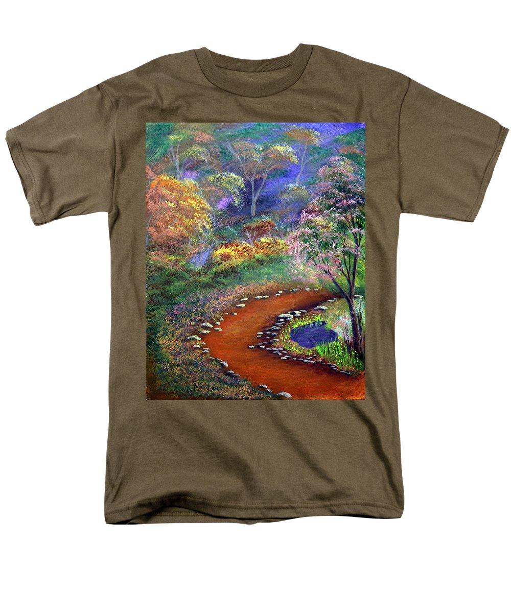Dawn Blair Men's T-Shirt (Regular Fit) featuring the painting Fantasy Path by Dawn Blair