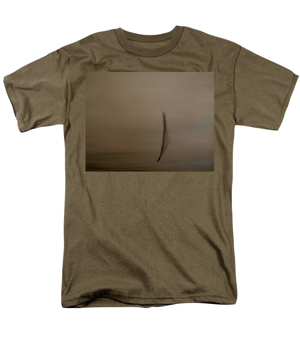 Feather Men's T-Shirt (Regular Fit) featuring the painting Feather by Jack Diamond