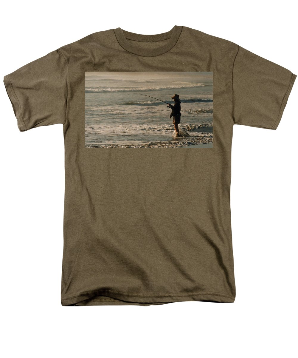 Fisherman Men's T-Shirt (Regular Fit) featuring the photograph Fisherman by Steve Karol