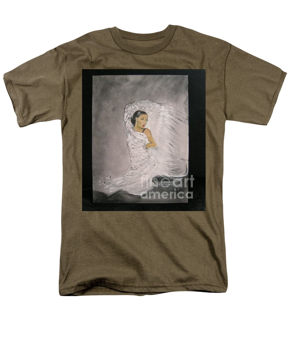Spain Men's T-Shirt (Regular Fit) featuring the painting Flamenco by Lizzy Forrester