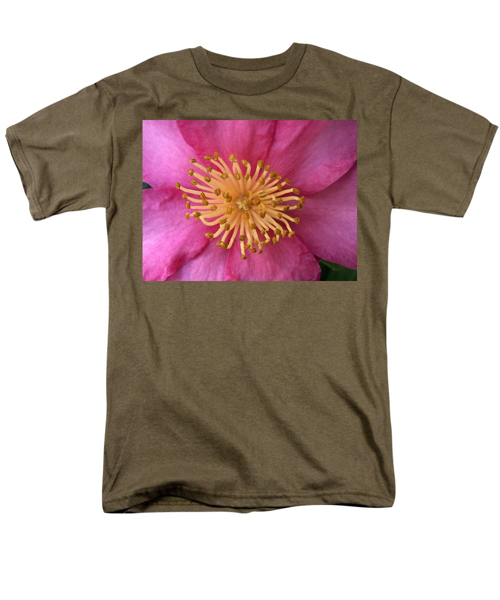 Flowers Men's T-Shirt (Regular Fit) featuring the photograph Flower Macro by Amy Fose