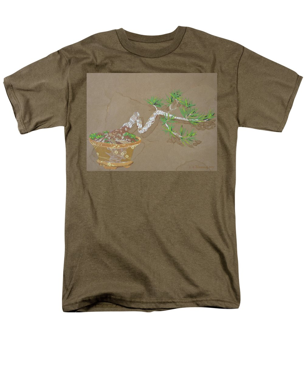 Banzai Tree Men's T-Shirt (Regular Fit) featuring the painting For Inge by Leah Tomaino