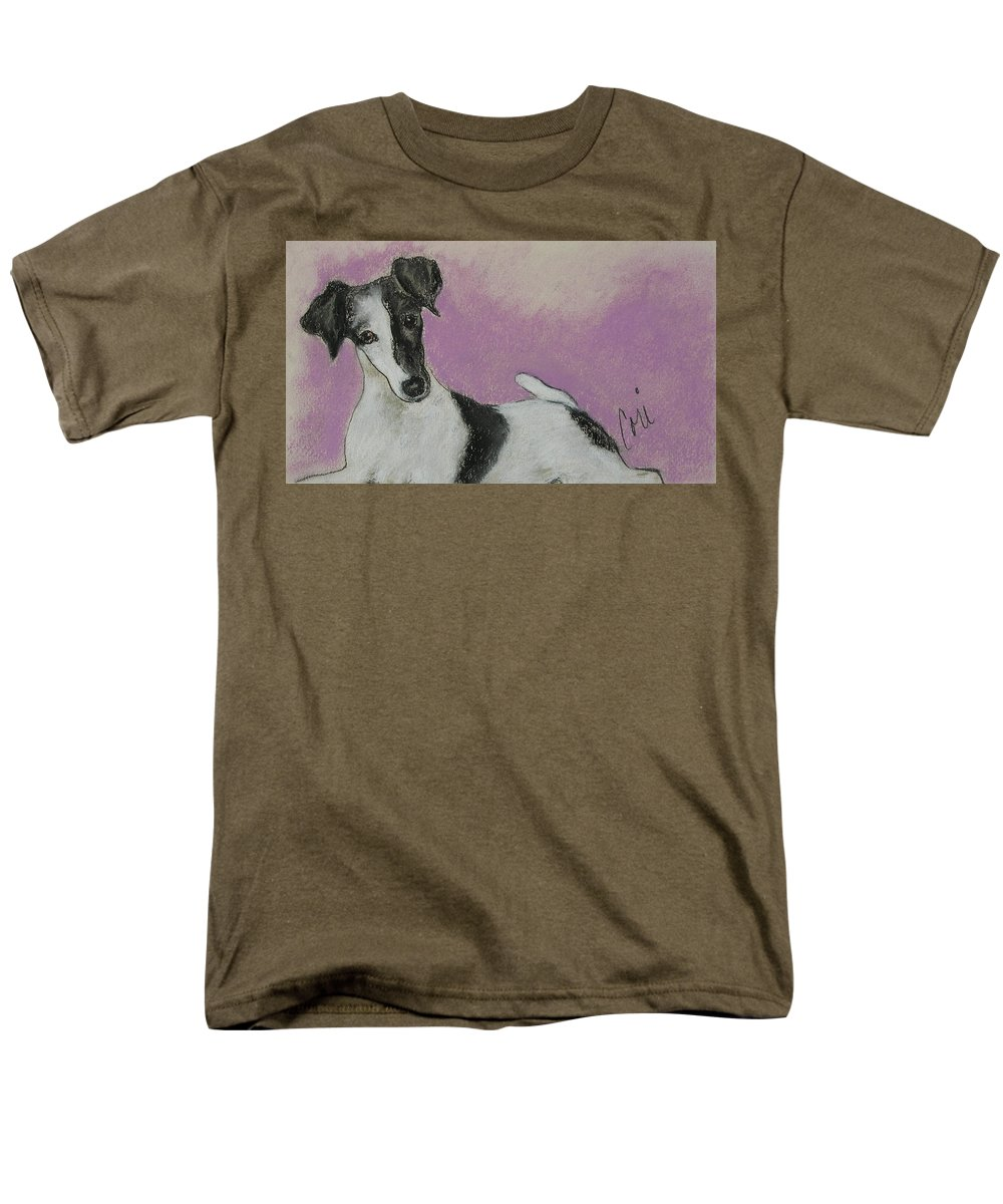 Dog Men's T-Shirt (Regular Fit) featuring the drawing Foxy by Cori Solomon