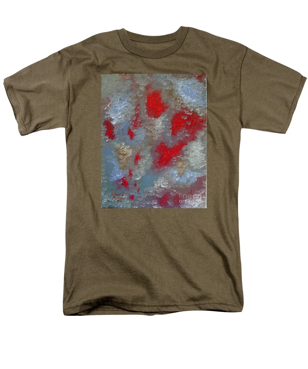 Abstract Men's T-Shirt (Regular Fit) featuring the painting Frozen Street by Laurie Morgan