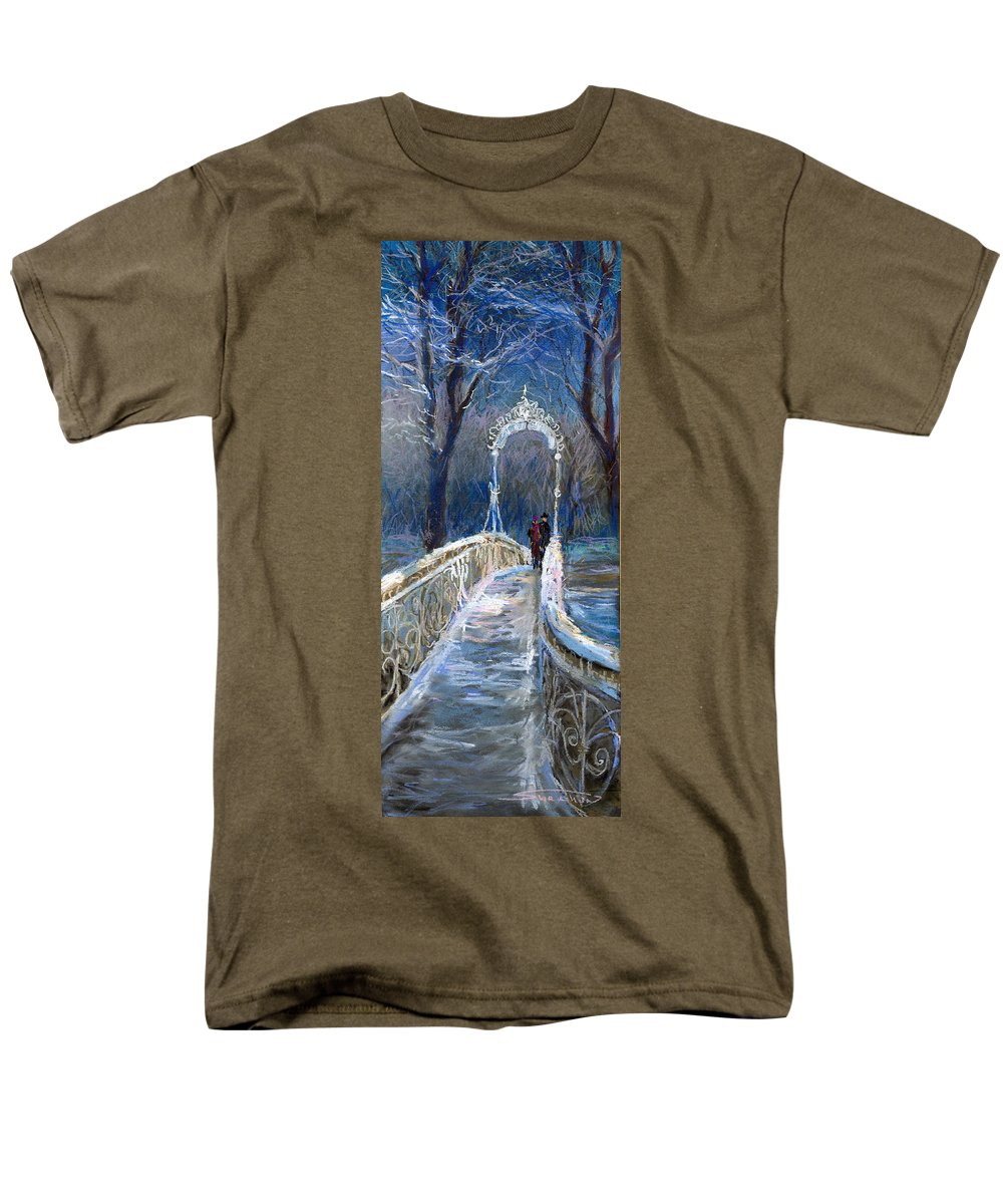 Pastel Men's T-Shirt (Regular Fit) featuring the painting Germany Baden-Baden 02 by Yuriy Shevchuk