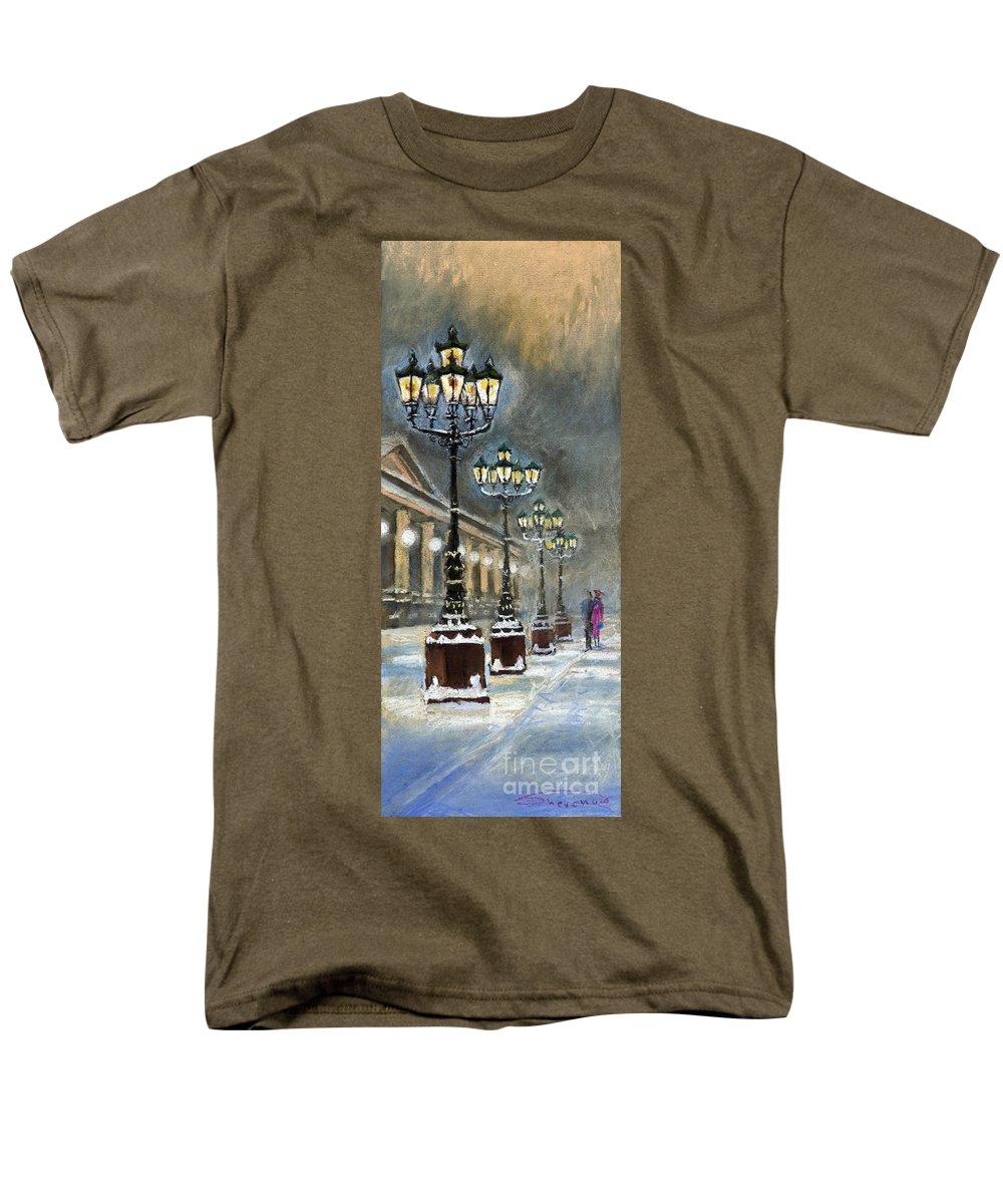 Pastel Men's T-Shirt (Regular Fit) featuring the painting Germany Baden-Baden Kurhaus by Yuriy Shevchuk