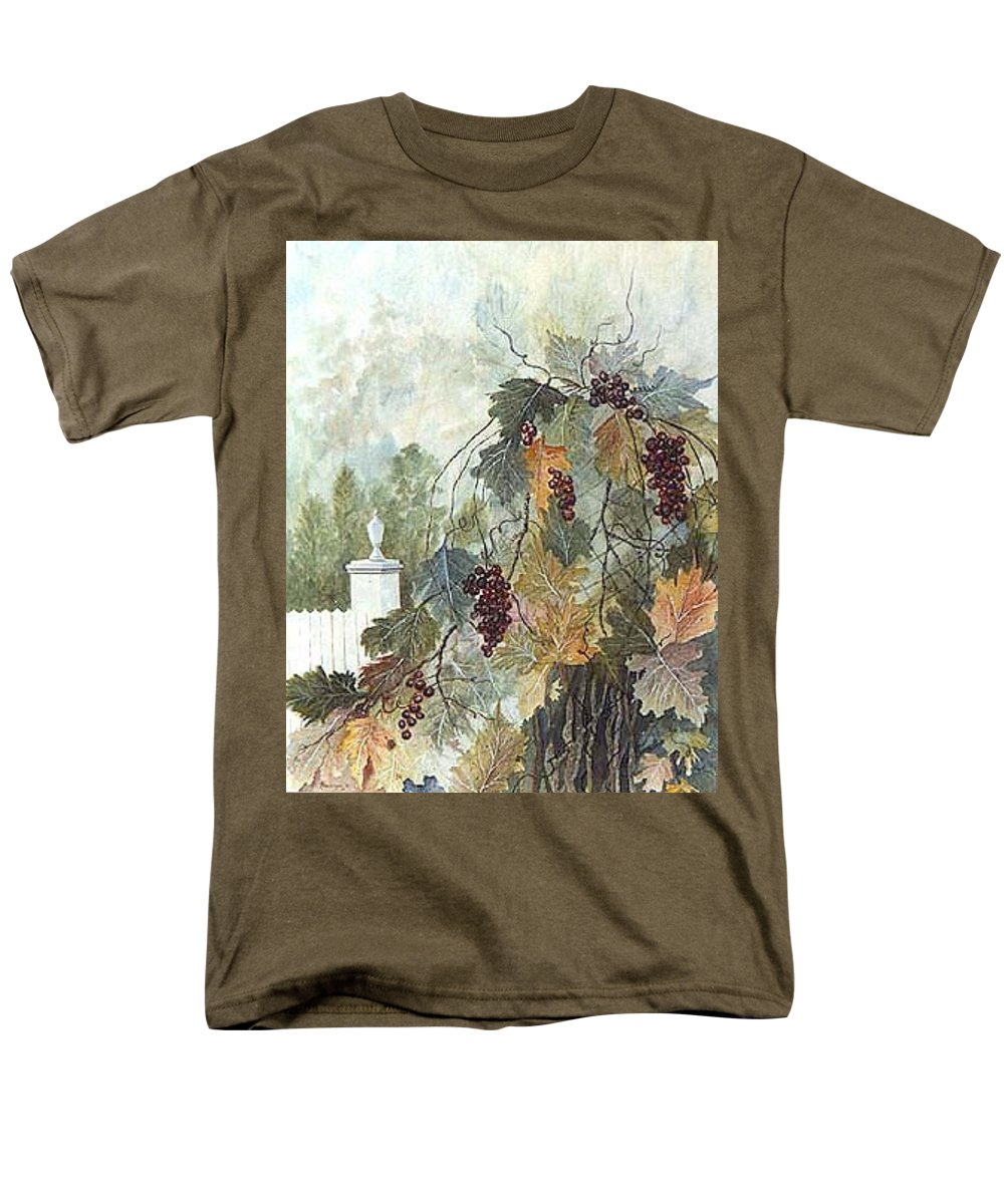 Fruit Men's T-Shirt (Regular Fit) featuring the painting Grapevine Topiary by Ben Kiger