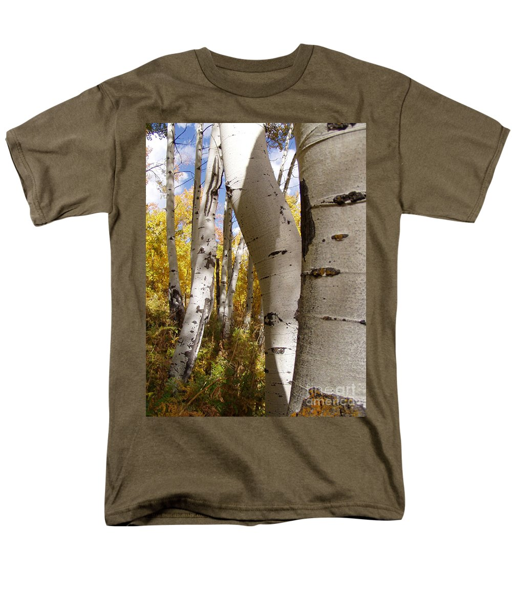 Trees Men's T-Shirt (Regular Fit) featuring the photograph Jackson Hole Wyoming by Amanda Barcon