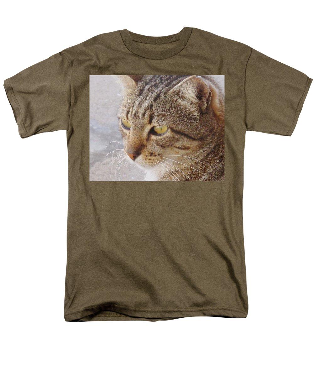 Cat Men's T-Shirt (Regular Fit) featuring the photograph King Cat by Ian MacDonald