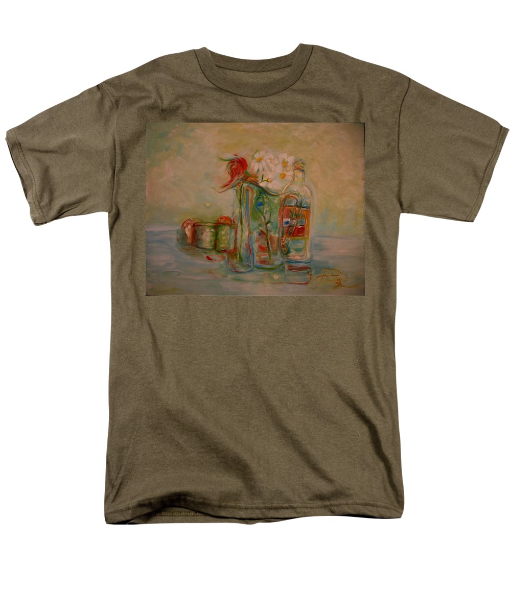 Oil Painting Men's T-Shirt (Regular Fit) featuring the painting Lovers Picnic by Jack Diamond