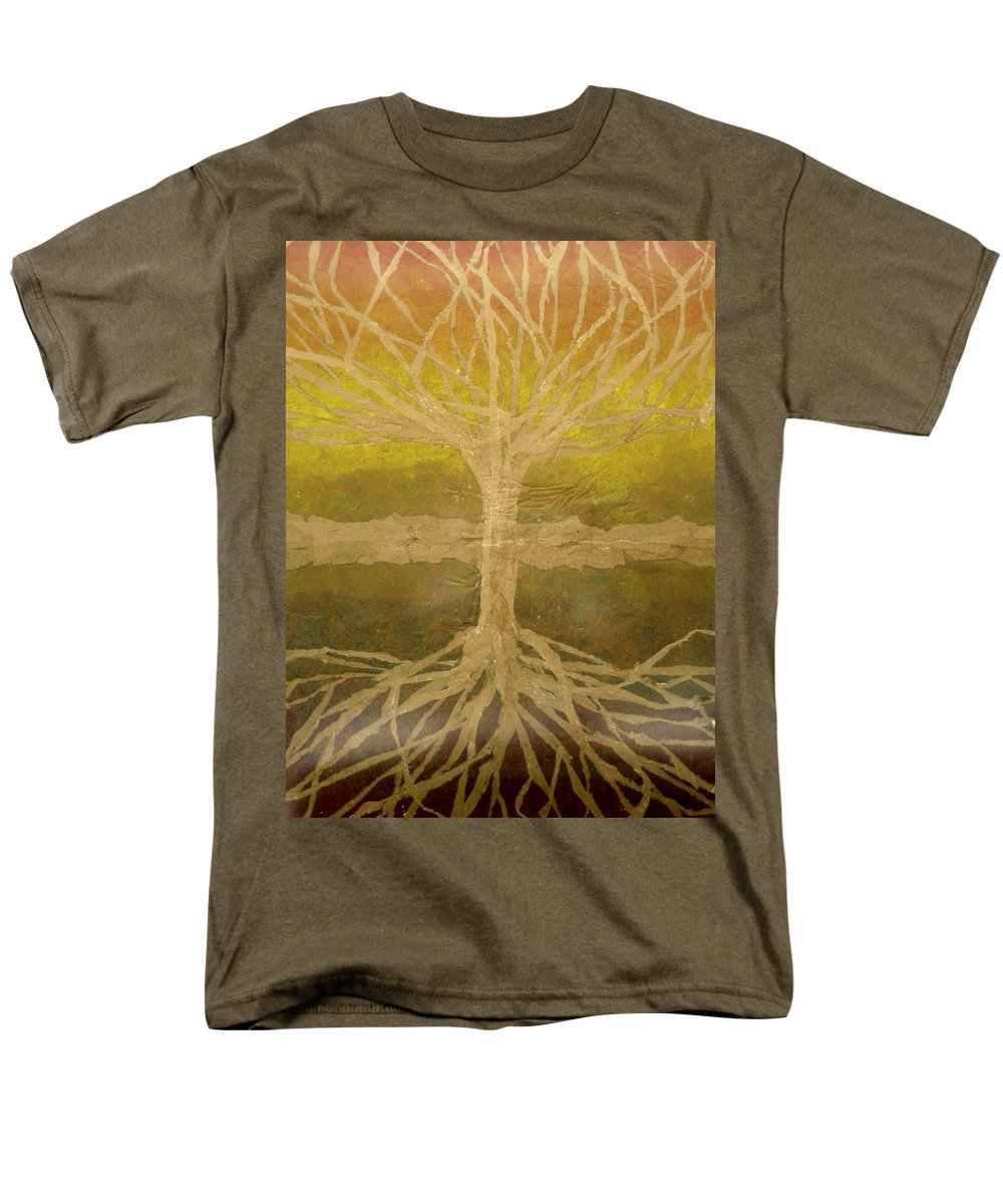 Abstract Men's T-Shirt (Regular Fit) featuring the painting Meditation by Leah Tomaino