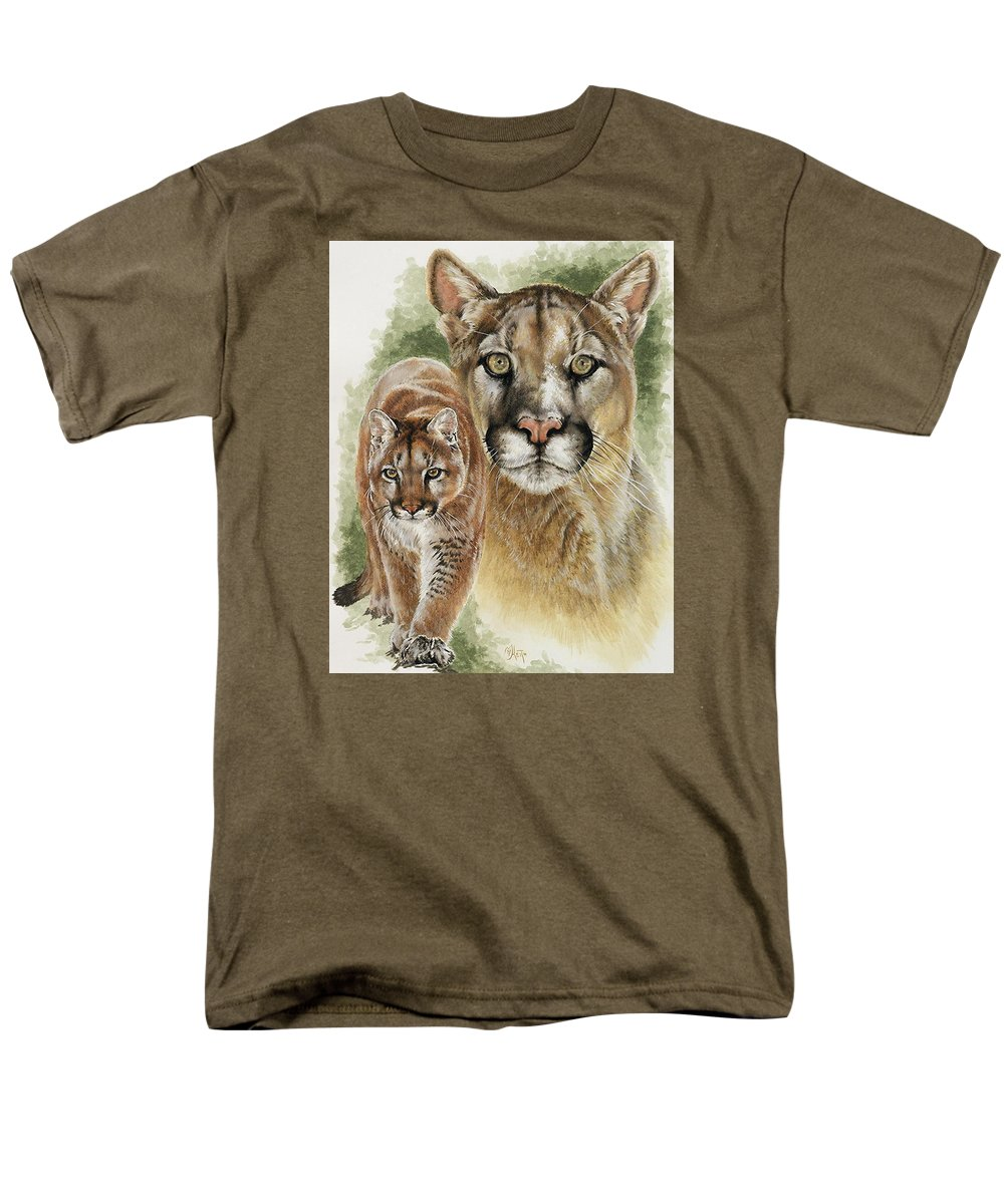 Cougar Men's T-Shirt (Regular Fit) featuring the mixed media Mighty by Barbara Keith
