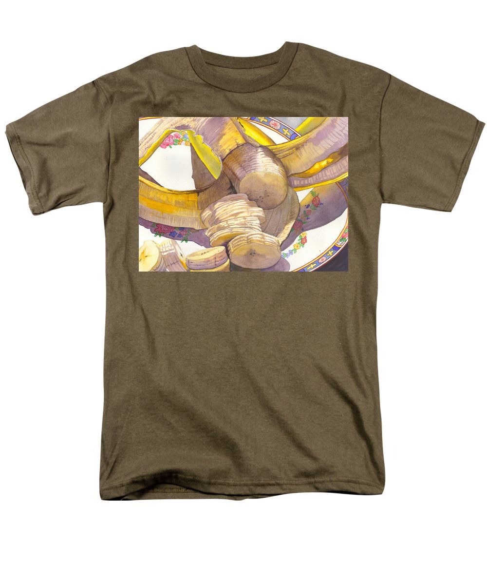Banana Men's T-Shirt (Regular Fit) featuring the painting Monkey Bait by Catherine G McElroy