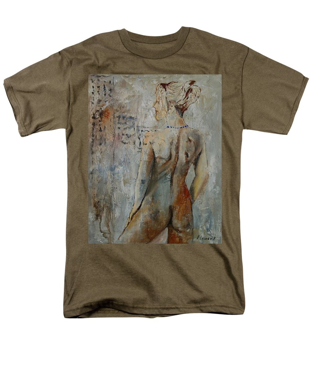 Girl Men's T-Shirt (Regular Fit) featuring the painting Nude 459020 by Pol Ledent