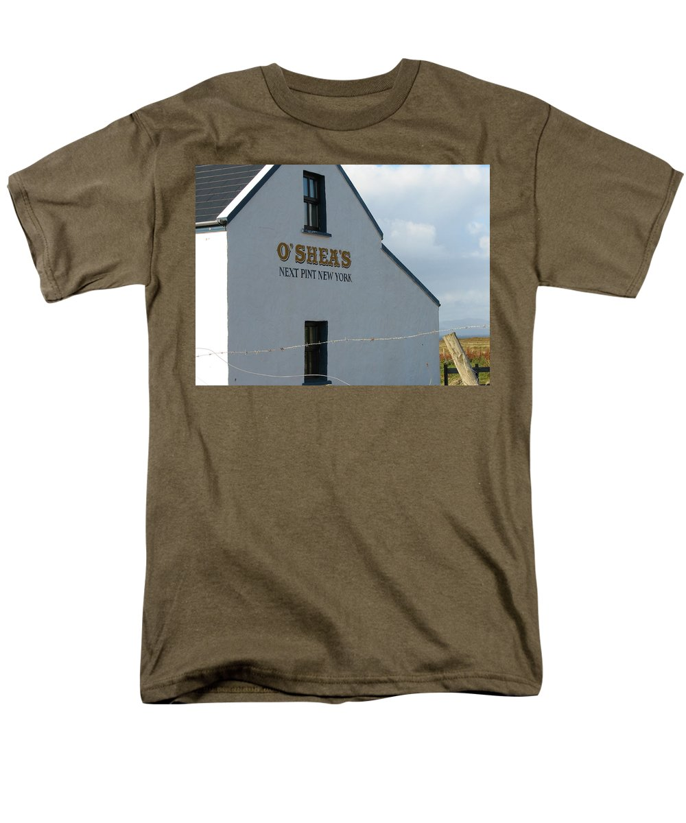 Pub Men's T-Shirt (Regular Fit) featuring the photograph O'Shea's by Kelly Mezzapelle