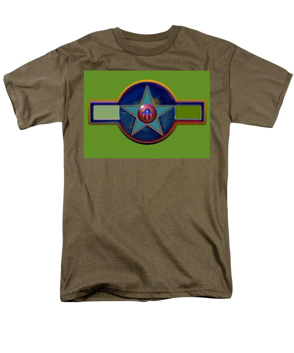 Usaaf Insignia Men's T-Shirt (Regular Fit) featuring the digital art Pax Americana Decal by Charles Stuart