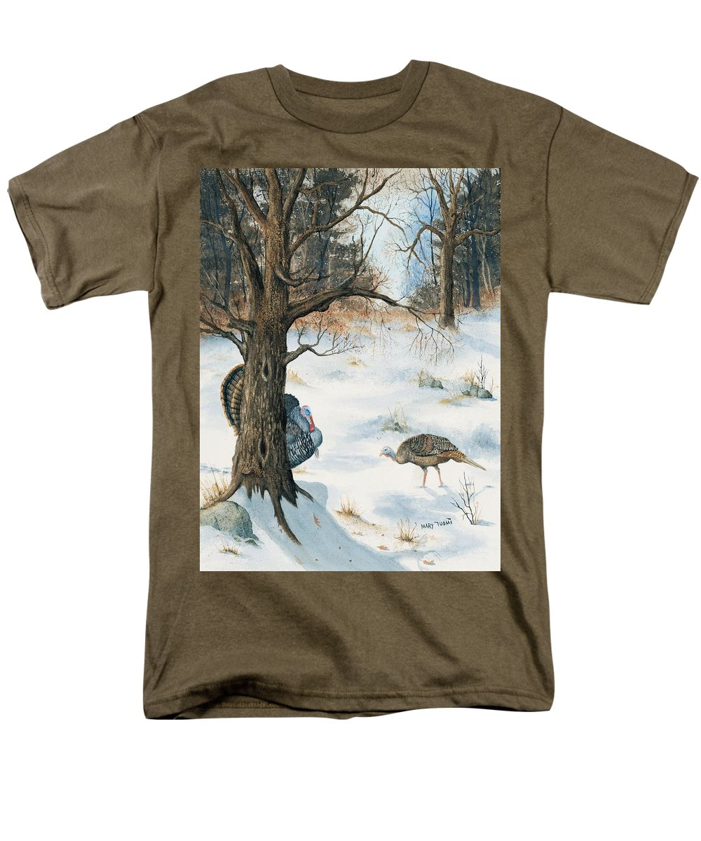 Turkey Men's T-Shirt (Regular Fit) featuring the painting Peeping Tom by Mary Tuomi