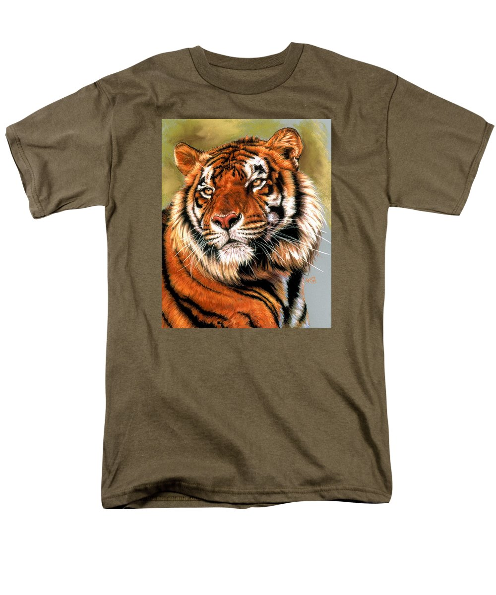 Tiger Men's T-Shirt (Regular Fit) featuring the pastel Power And Grace by Barbara Keith