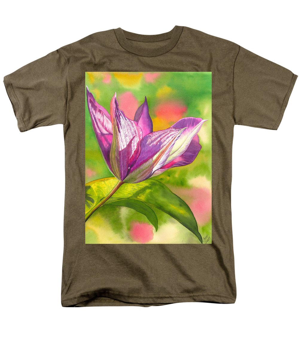 Flower Men's T-Shirt (Regular Fit) featuring the painting Reaching by Catherine G McElroy