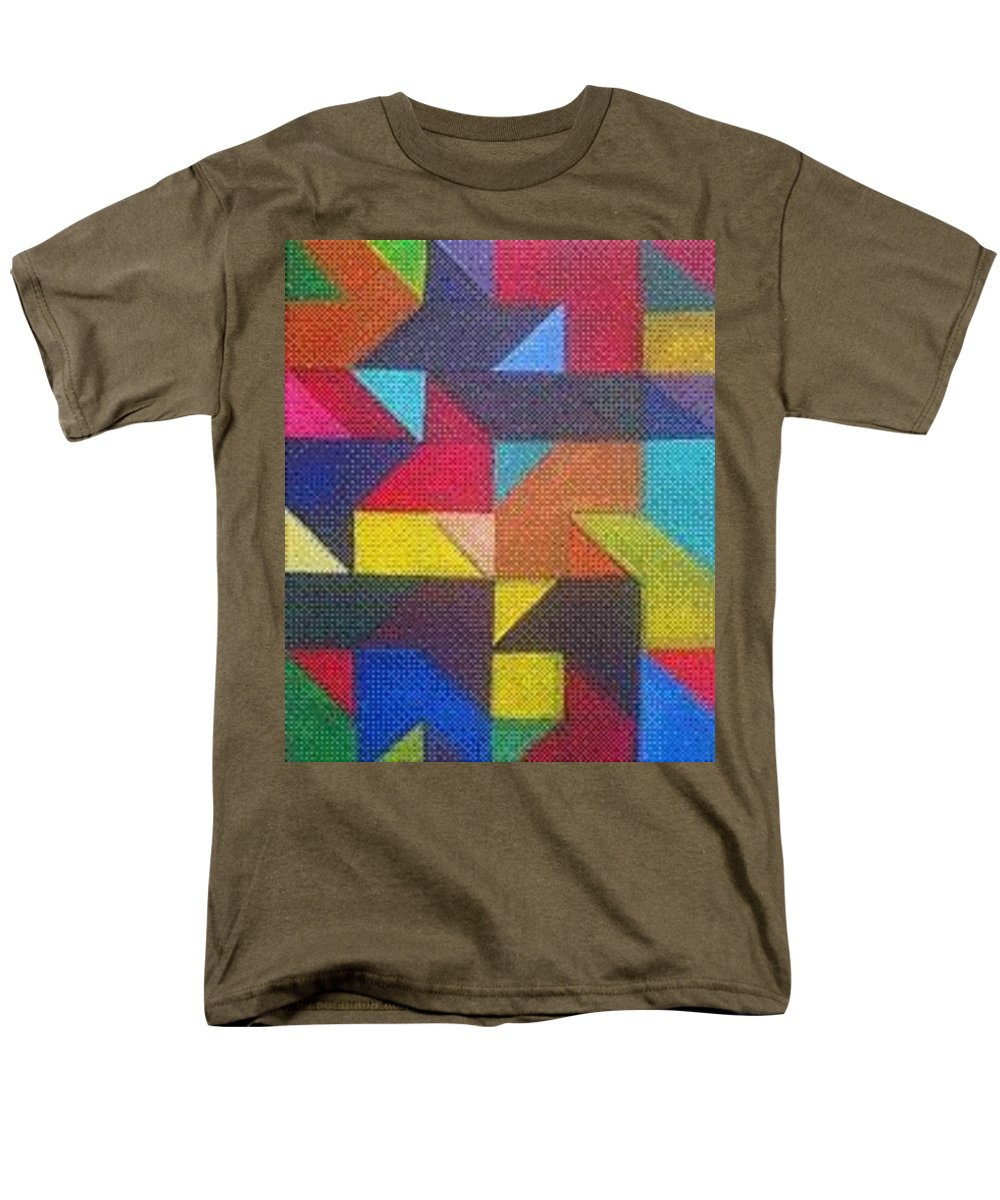 Digitalize Image Men's T-Shirt (Regular Fit) featuring the digital art Real Sharp by Andrew Johnson