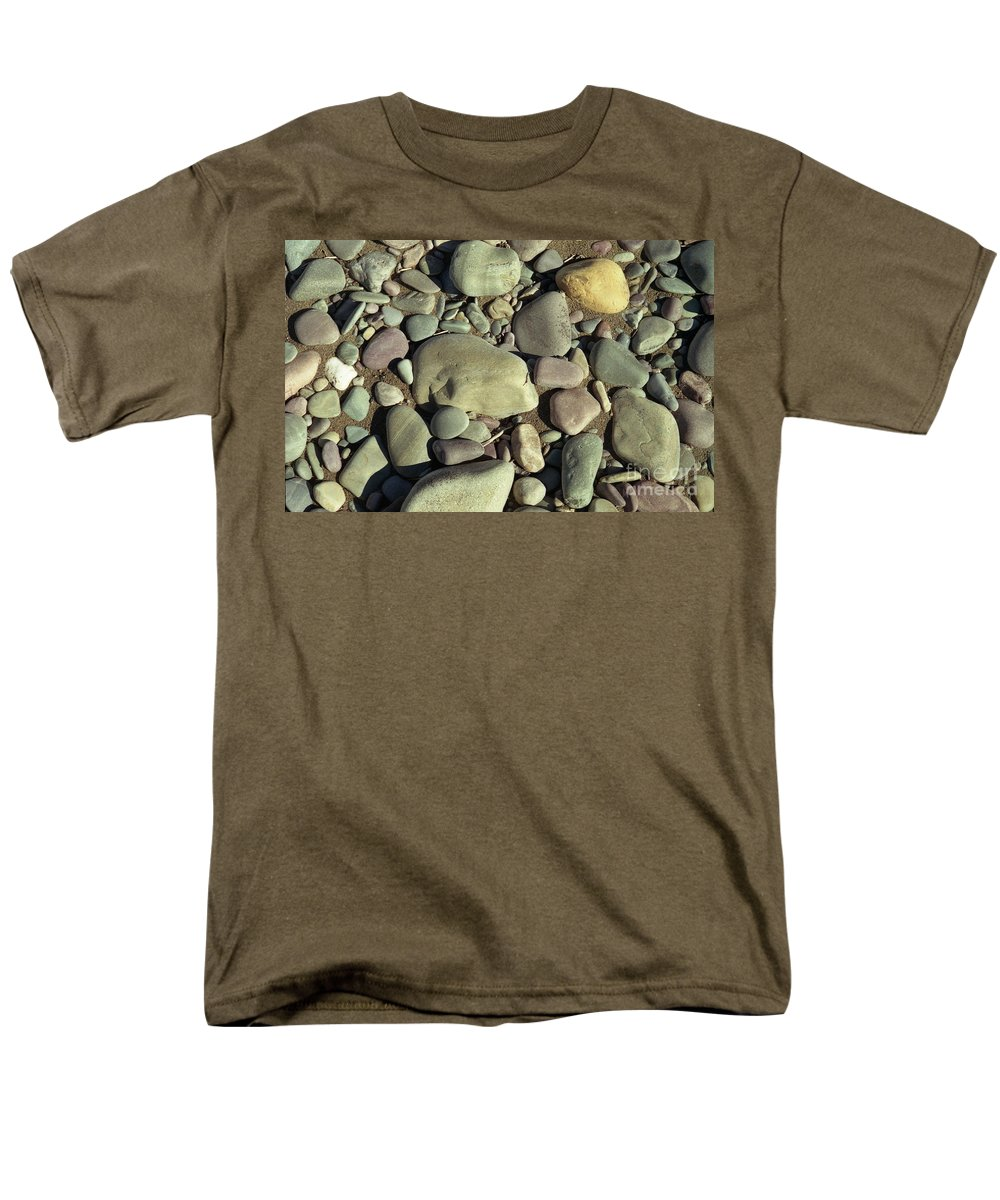 River Rock Men's T-Shirt (Regular Fit) featuring the photograph River Rock by Richard Rizzo