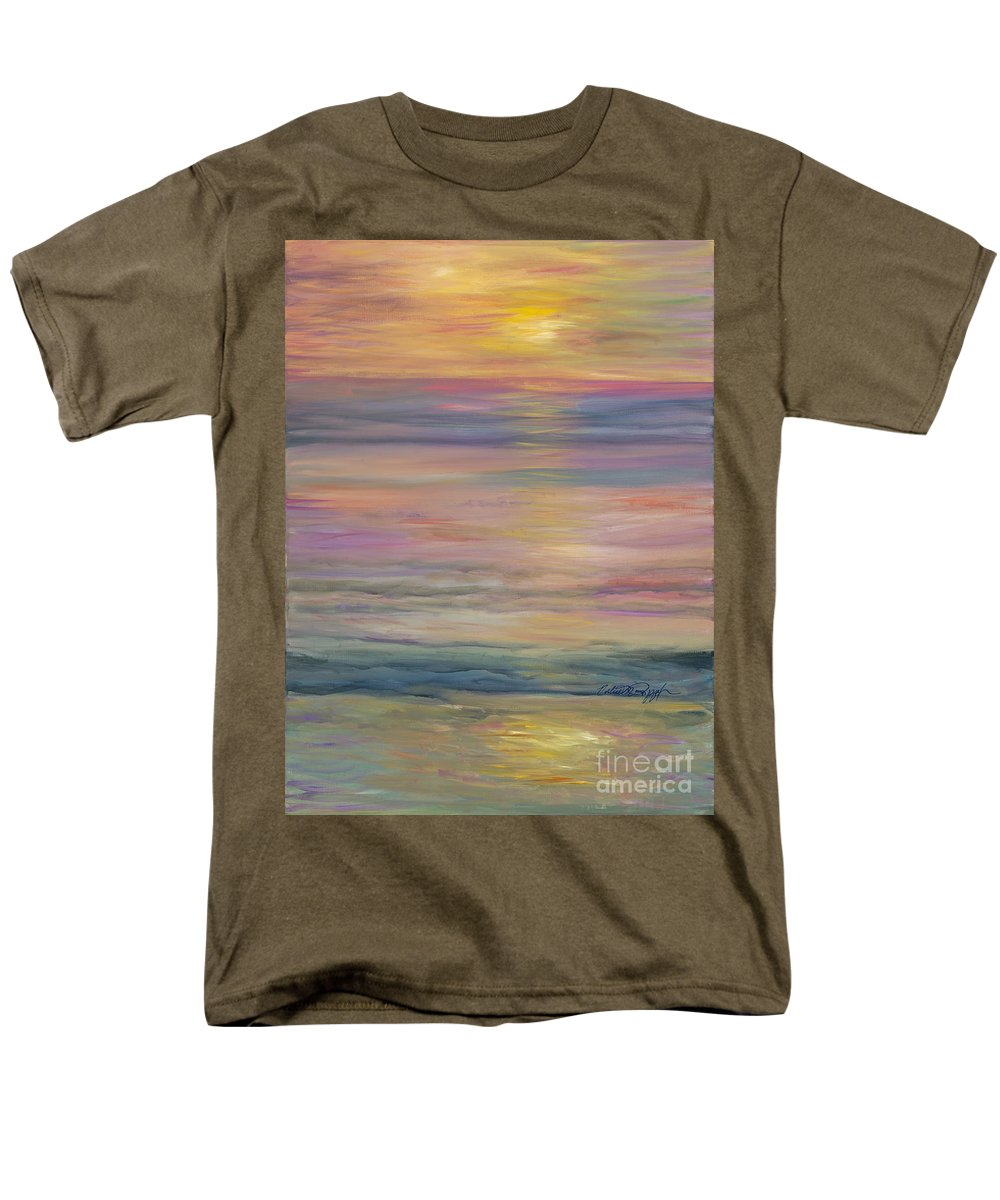 Sea Men's T-Shirt (Regular Fit) featuring the painting Seascape by Nadine Rippelmeyer