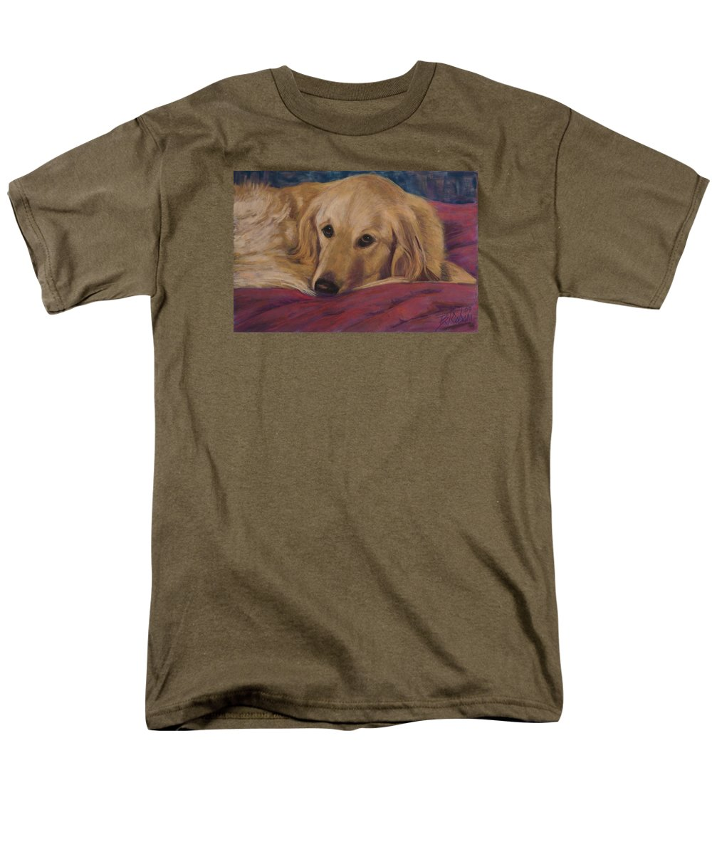 Dogs Men's T-Shirt (Regular Fit) featuring the painting Soulfull Eyes by Billie Colson