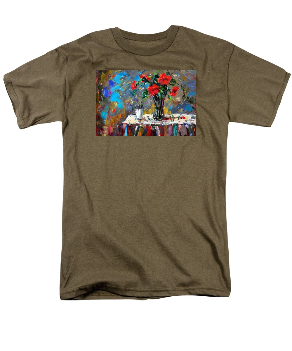 Flowers Men's T-Shirt (Regular Fit) featuring the painting Spring Blooms by Debra Hurd