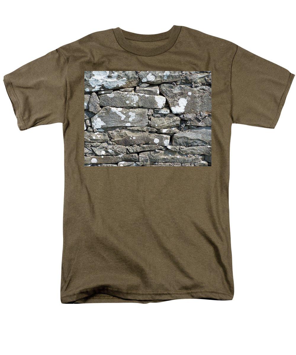 Irish Men's T-Shirt (Regular Fit) featuring the photograph Stone Wall Detail Doolin Ireland by Teresa Mucha