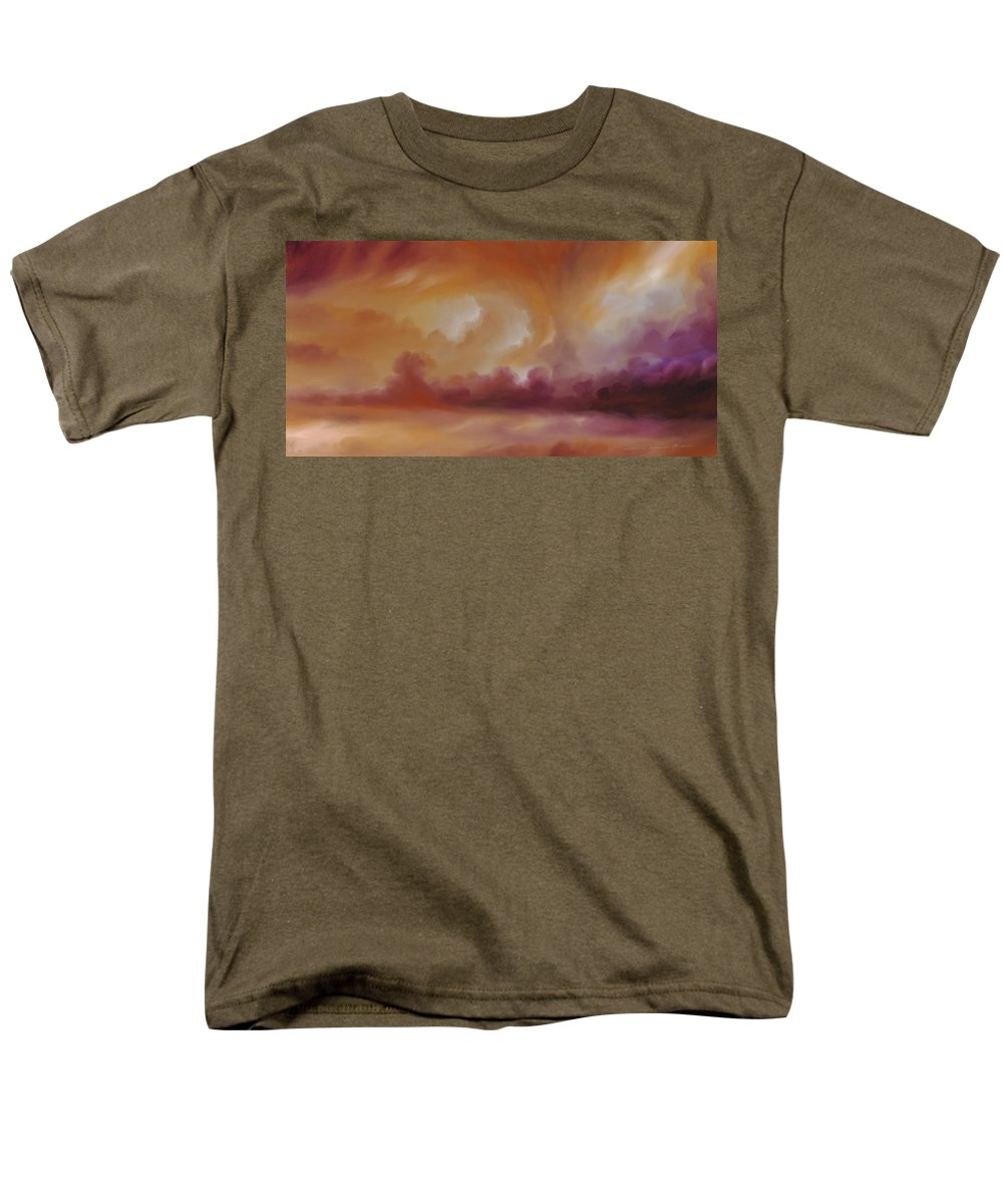Tempest Men's T-Shirt (Regular Fit) featuring the painting Storm Clouds 2 by James Christopher Hill