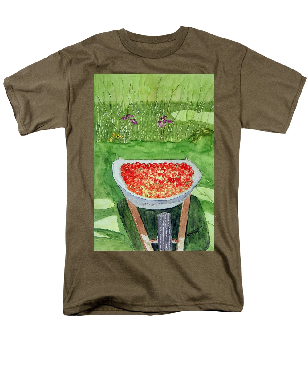 Rural Paintings Men's T-Shirt (Regular Fit) featuring the painting Summer Bounty by Larry Wright