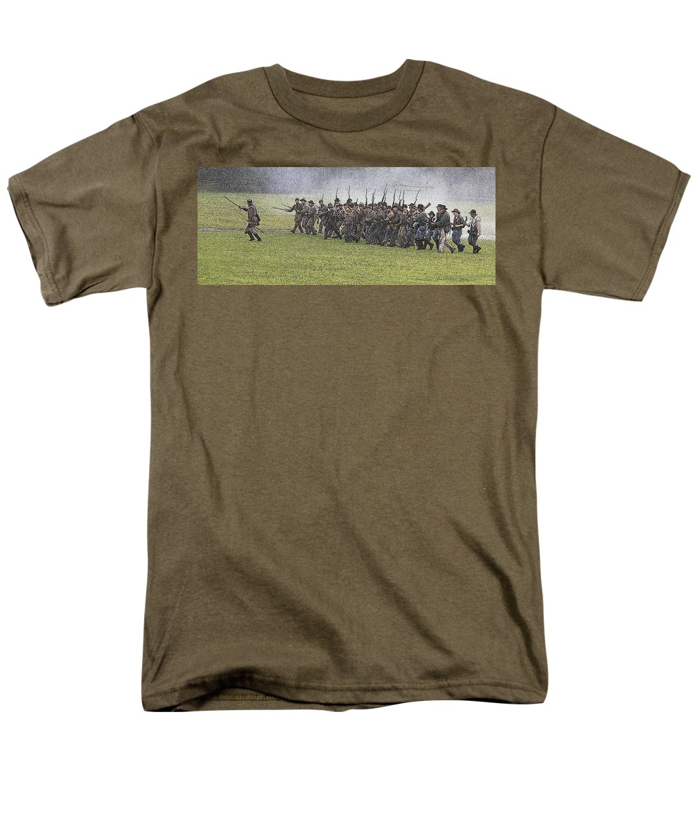 Civil War Men's T-Shirt (Regular Fit) featuring the photograph The conflict by Robert Pearson
