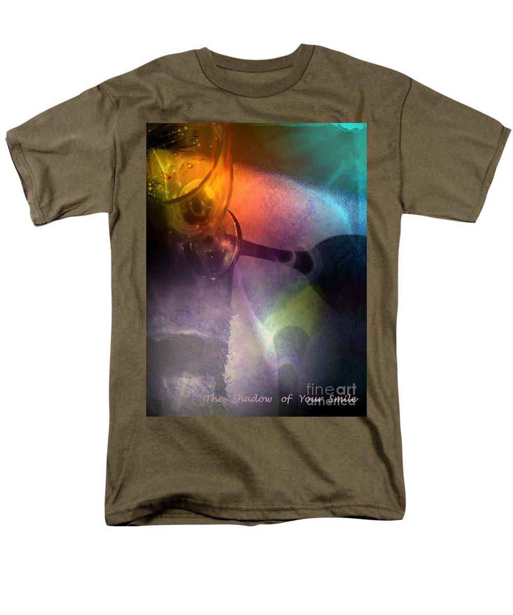 Fantasy Men's T-Shirt (Regular Fit) featuring the painting The Shadow of Your Smile by Miki De Goodaboom