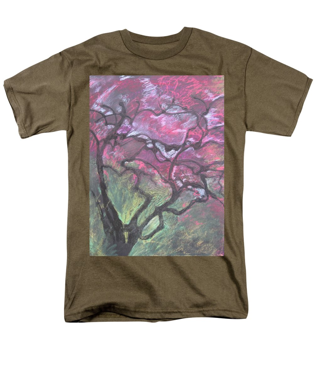 Pastel Men's T-Shirt (Regular Fit) featuring the drawing Twisted Cherry by Leah Tomaino