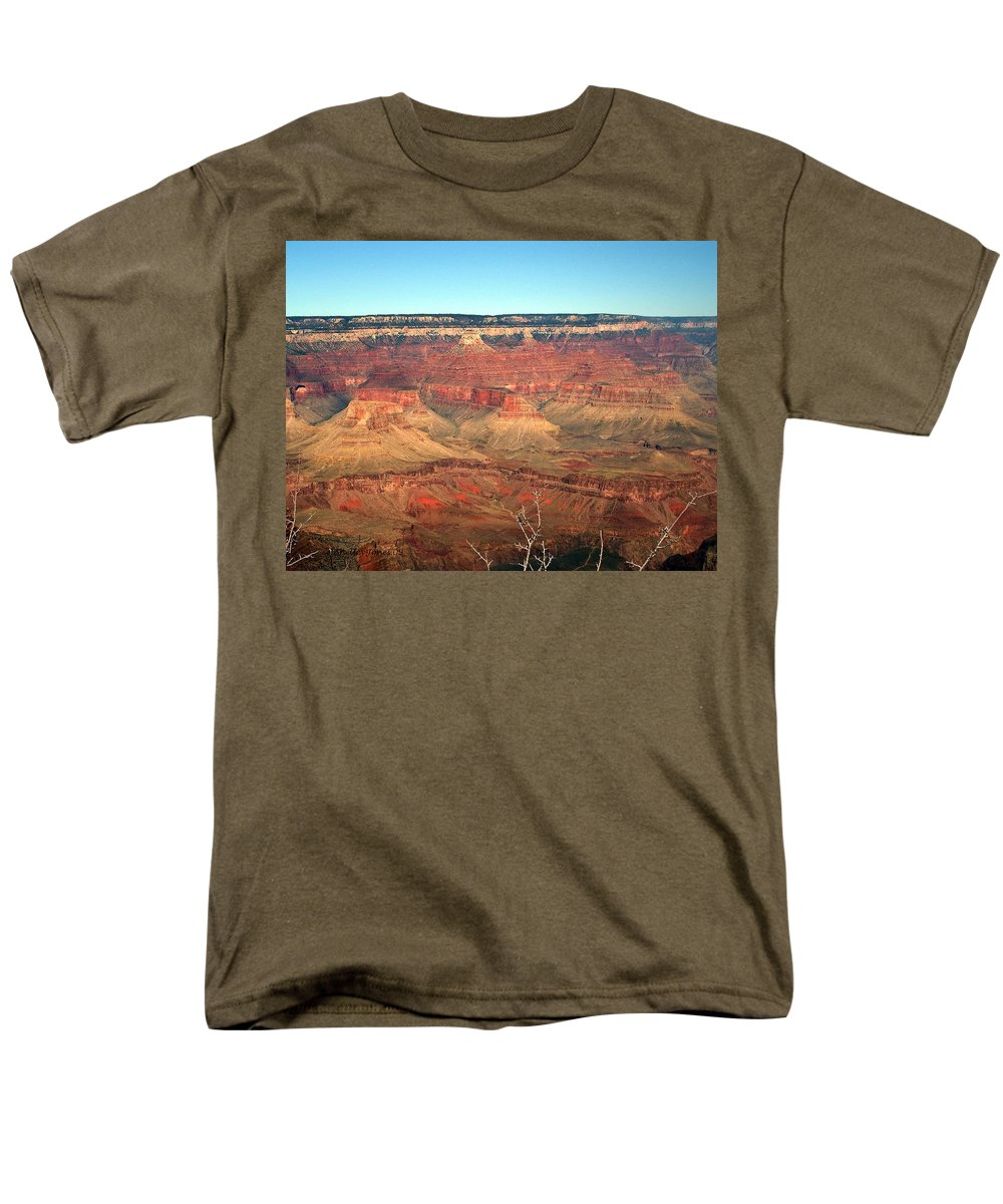 Grand Canyon Men's T-Shirt (Regular Fit) featuring the photograph Whata View by Shelley Jones