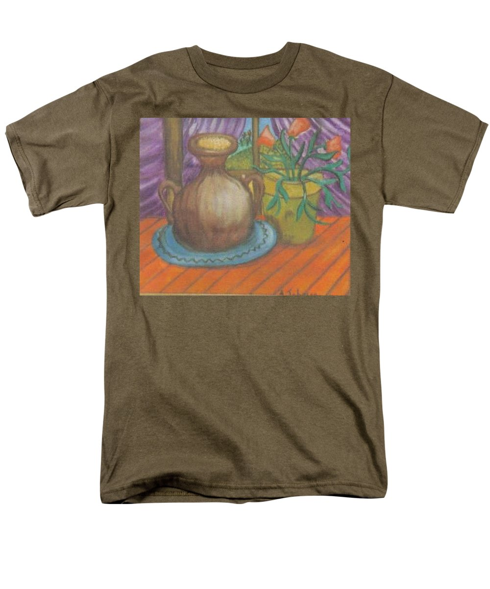 Still Life Men's T-Shirt (Regular Fit) featuring the painting Work by Andrew Johnson