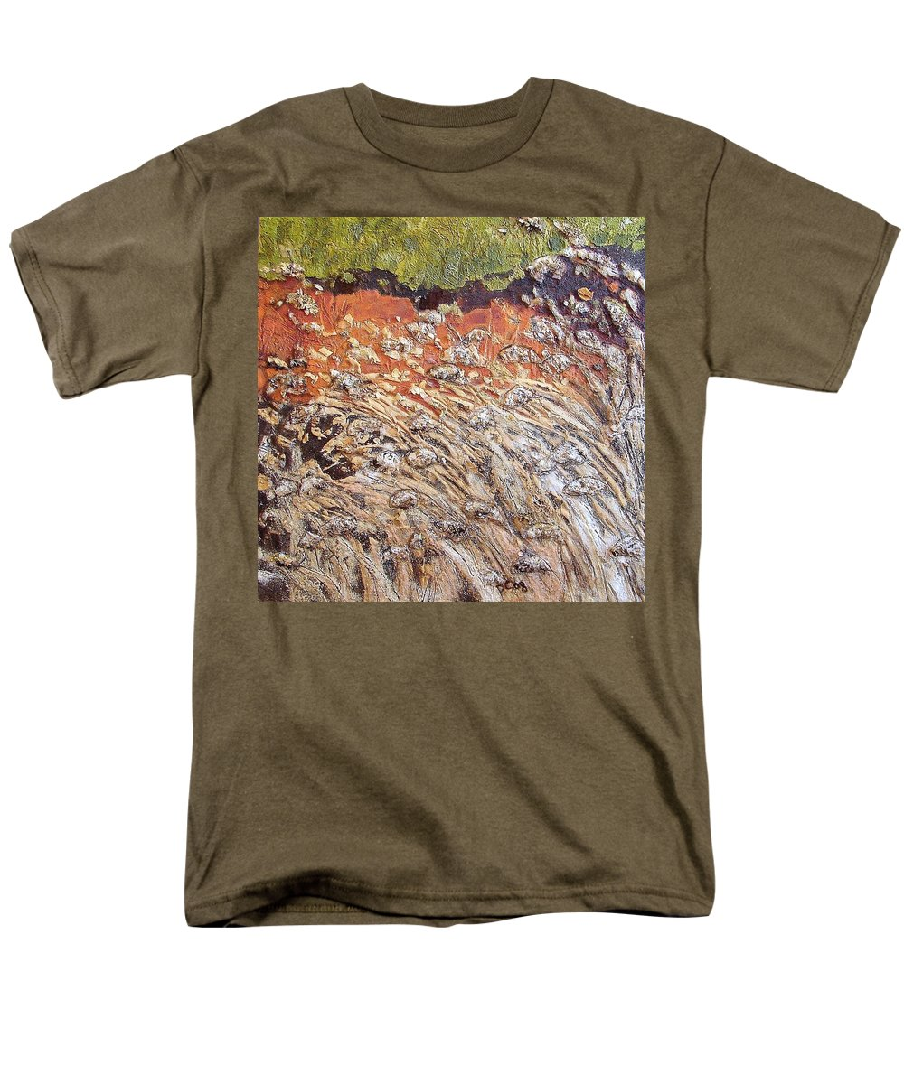Abstract Men's T-Shirt (Regular Fit) featuring the painting Yearning by Piety Choi